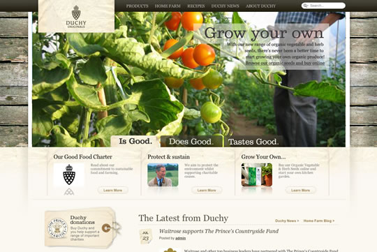 Nature Related Web Designs To Inspire You