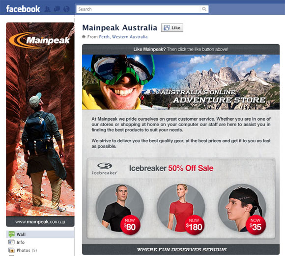 mainpeak facebook page