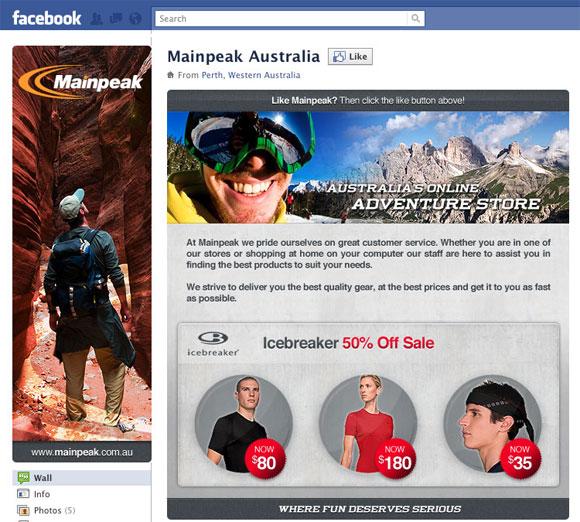 mainpeak facebook page